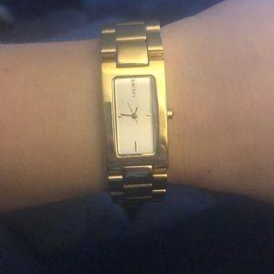 DKNY gold watch